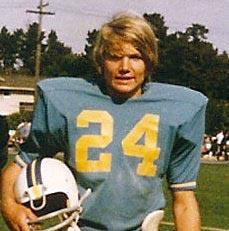 Butch Nauheim in football gear