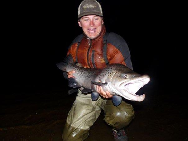 Jess Atkins  catching fish